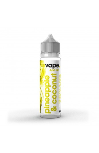 88 Vape - Pineapple & Coconut 50ml (Shortfill)